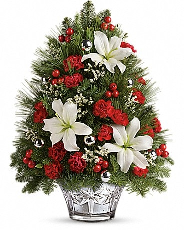 Teleflora's Festive Trimmings Tree Bouquet