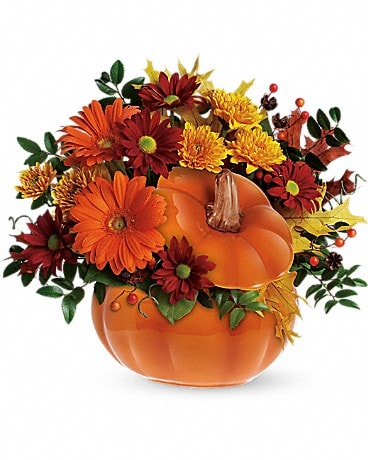 Teleflora's Country Pumpkin Fall Bouquet Flower Arrangement