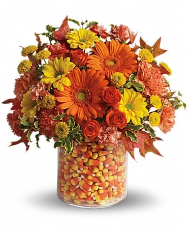 Teleflora's Candy Cornie Flower Arrangement