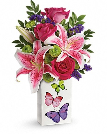Teleflora's Brilliant Butterflies Bouquet