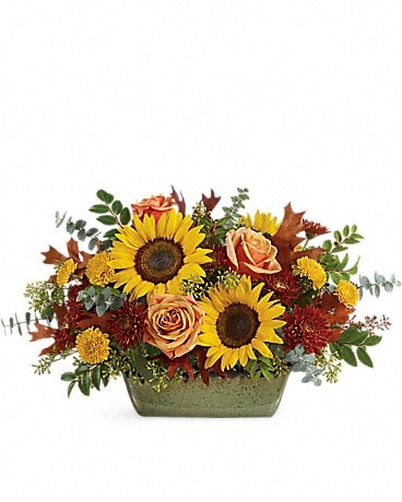 Teleflora's Sunflower Farm Centerpiece Flower Arrangement