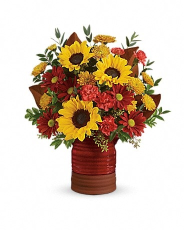 Teleflora's Sunshine Crock Bouquet