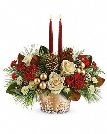 Winter Pines Centerpiece Flower Arrangement