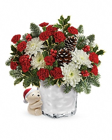 Send a Hug® Bear Buddy Bouquet by Teleflora Bouquet
