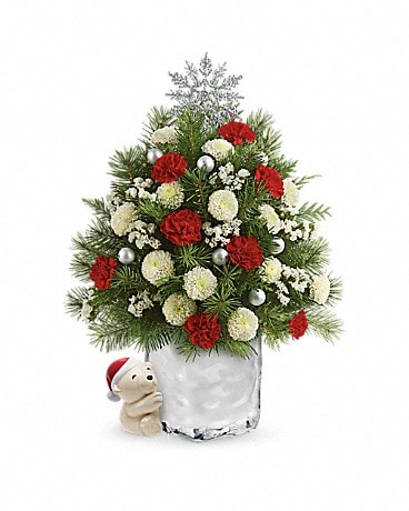 Send a Hug® Cuddly Christmas Tree by Teleflora  Bouquet