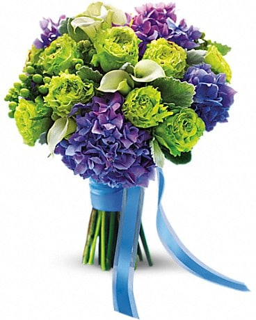 Luxe Lavender and Green Bouquet Bouquet