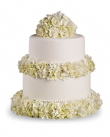 Sweet White Cake Decoration Specialty Arrangement