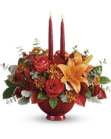 Autumn In Bloom Centerpiece Flower Arrangement