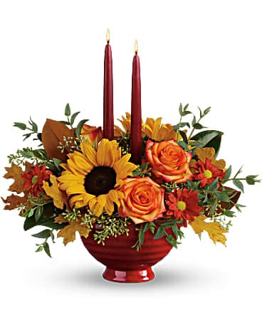 Teleflora's Earthy Autumn Centerpiece (T18T110A)