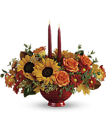 Teleflora's Earthy Autumn Centerpiece Flower Arrangement