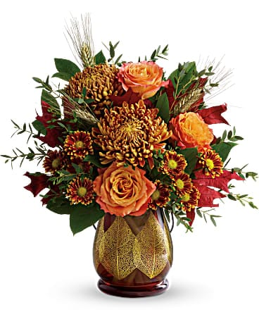 Teleflora's Fields Of Amber Bouquet Bouquet