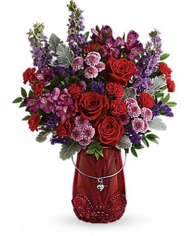 Teleflorau0027s Delicate Heart Bouquet Bouquet