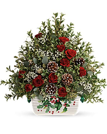 Teleflora's Warmest Winter Tree Flower Arrangement