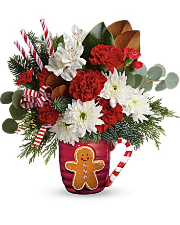 Send A Hug® Gingerbread Greetings  T18X505A Bouquet