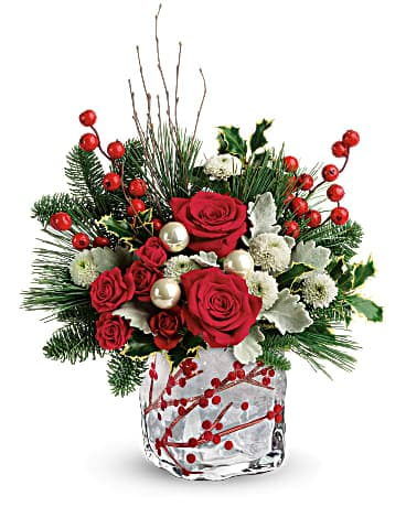 Winterberry Kisses Cube Bouquet