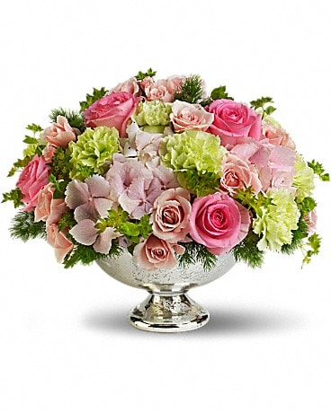 Garden Rhapsody Centerpiece Flower Arrangement
