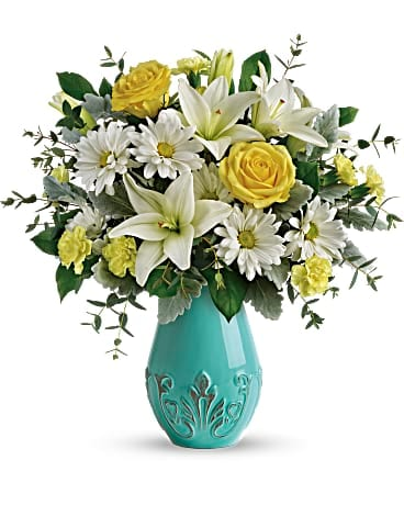 Teleflora's Aqua Dream Bouquet T19E100A