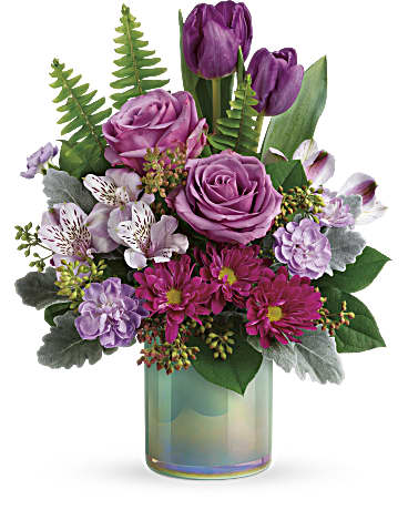 Spring Flowers - Teleflora's Art Glass Garden Bouquet