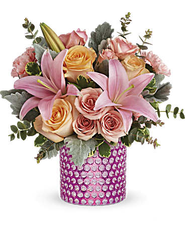 Teleflora's Pink Breeze Bouquet t19s105a