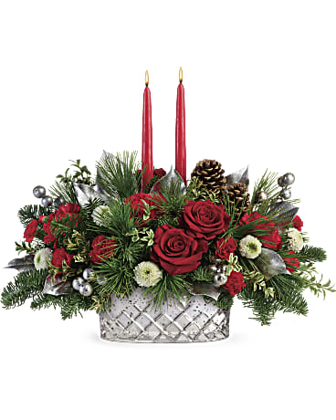Teleflora's Merry Mercury Centerpiece Flower Arrangement