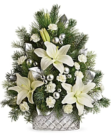 Sparkling Silver Tree Flower Arrangement