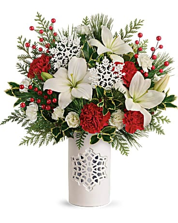 Christmas Flower Delivery - Teleflora's Festive Flurries Bouquet