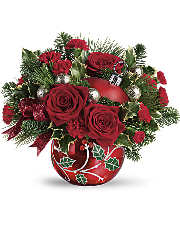 Edelweiss' Deck The Holly Ornament Bouquet