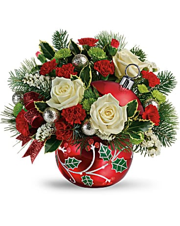 Teleflora's Classic Holly Ornament Bouquet  Bouquet