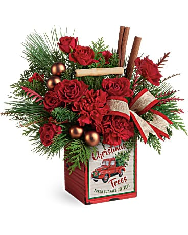Teleflora's Merry Vintage Christmas Bouquet
