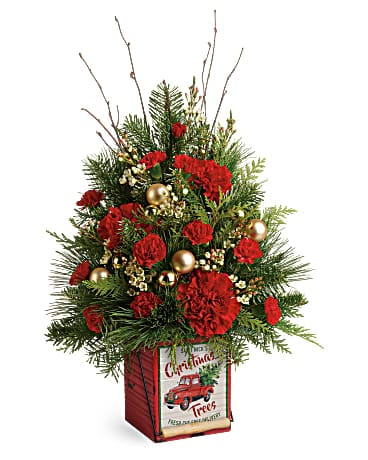 Teleflora's Vintage Greetings Tree Bouquet