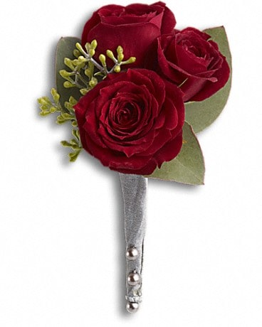 King's Red Rose Boutonniere Boutonniere