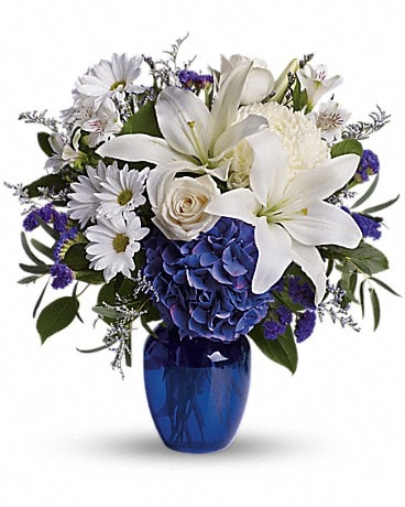 Beautiful in Blue - Flower Delivery to Houston