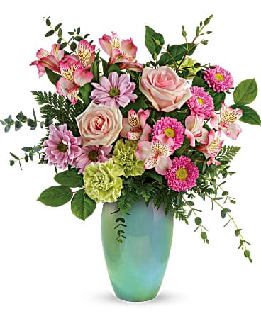 Teleflora's Enamored With Aqua Bouquet Bouquet