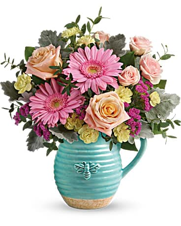 Teleflora's Bee Delighted Bouquet Bouquet