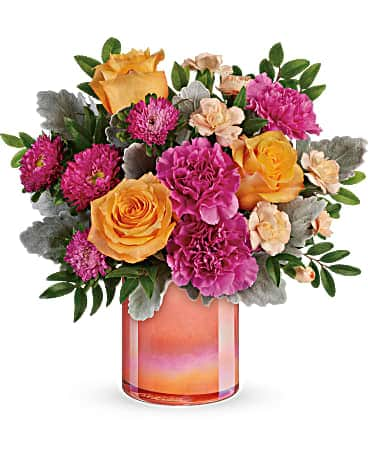 Perfect Spring Peach Bouquet Bouquet