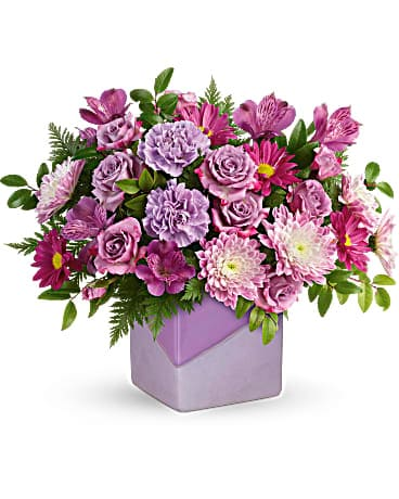 Teleflora's Shades Of Lavender Bouquet Bouquet