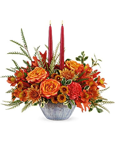 Teleflora's Bountiful Blessings Centerpiece Bouquet