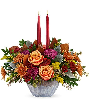 Teleflora's Harvest Jewels Centerpiece Bouquet