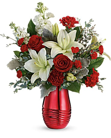 Teleflora's Radiantly Rouge Bouquet Bouquet