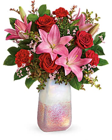 Valentine's Flower Delivery - Teleflora's Pretty in Quartz Bouquet