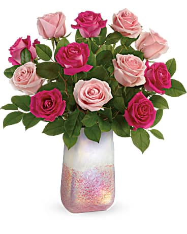 Teleflora's Rose Quartz Kisses Bouquet Bouquet