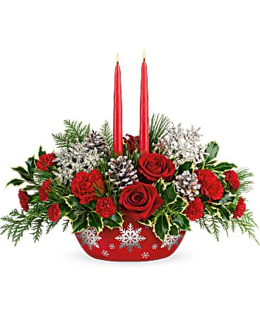 Teleflora's Winter's Eve Centerpiece