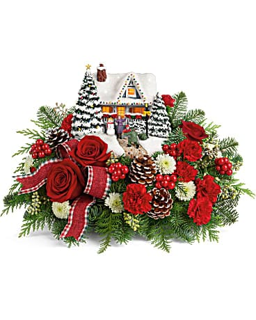 Thomas Kinkade's Hero's Welcome Bouquet Flower Arrangement