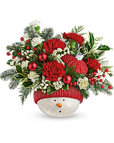 Snowman Ornament Bouquet by Agnew Florist