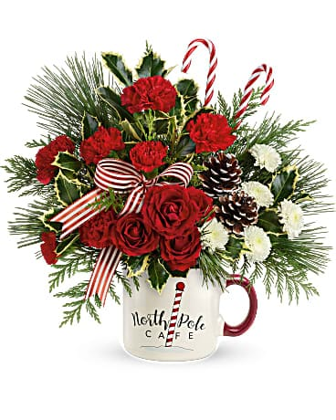 Send a Hug® North Pole Cafe Mug by Teleflora Bouquet