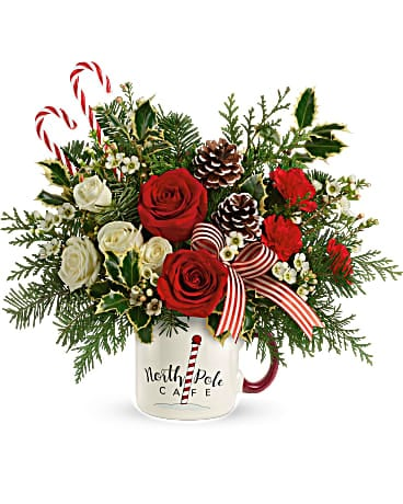 Send a Hug® Cozy Holiday Mug by Teleflora Bouquet