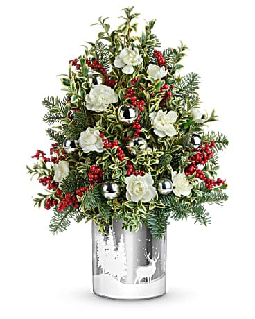 Teleflora's Snowy Wonderland Tree Bouquet