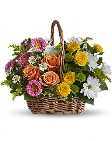 Sweet Tranquility Basket Basket Arrangement