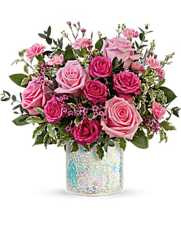 Teleflora's Gorgeous Glimmer Bouquet Flower Arrangement