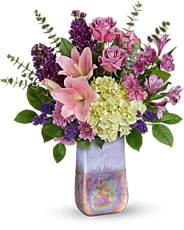 Teleflora's Purple Swirls Bouquet Bouquet